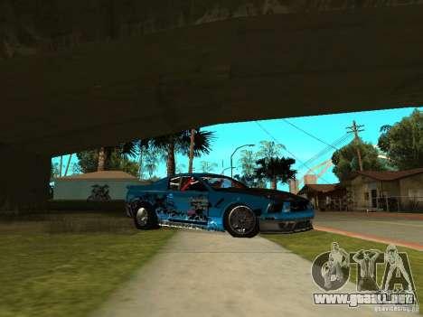 Ford Mustang Drag King para GTA San Andreas vista posterior izquierda