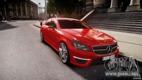 Mercedes-Benz CLS 63 AMG 2012 para GTA 4 vista lateral