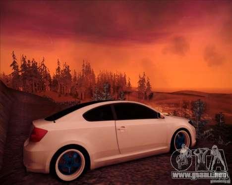 Scion tC Blue Meisters para la visión correcta GTA San Andreas
