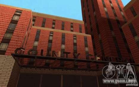 Nuevas texturas para el hospital en Los Santos para GTA San Andreas tercera pantalla