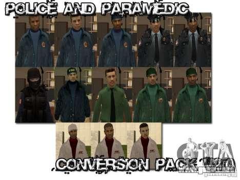 Police and Paramedic Conversion Mod 2.0 para GTA San Andreas tercera pantalla
