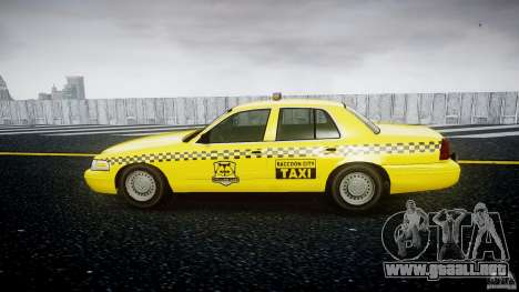 Ford Crown Victoria Raccoon City Taxi para GTA 4 left