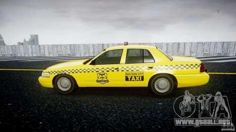 Ford Crown Victoria Raccoon City Taxi para GTA 4 left