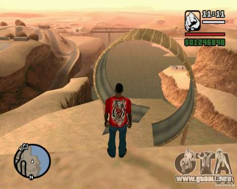 La torre inclinada de Pisa para GTA San Andreas segunda pantalla