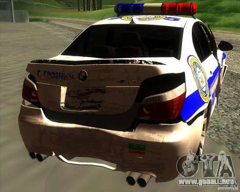 BMW M5 E60 policía para el motor de GTA San Andreas