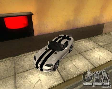 Dodge Viper GTS Coupe para la visión correcta GTA San Andreas