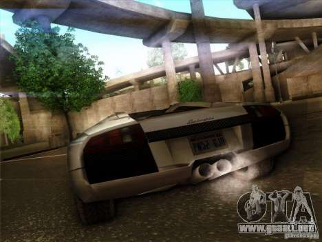 Lamborghini Murcielago Roadster para GTA San Andreas vista hacia atrás
