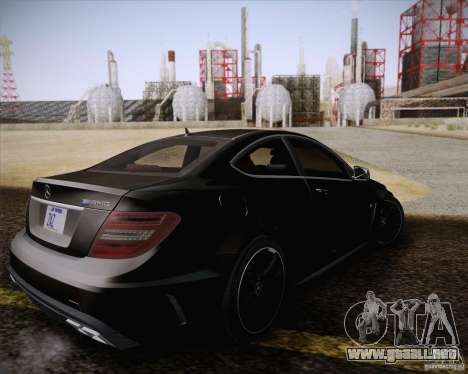 Mercedes-Benz C63 AMG Black Series para visión interna GTA San Andreas