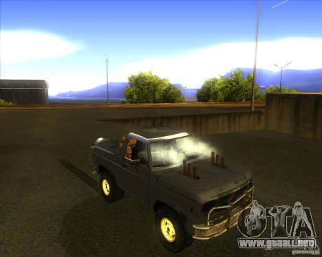 Blazer XL FlatOut2 para vista lateral GTA San Andreas