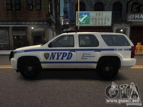 Chevrolet Tahoe NYPD V.2.0 para GTA 4 left