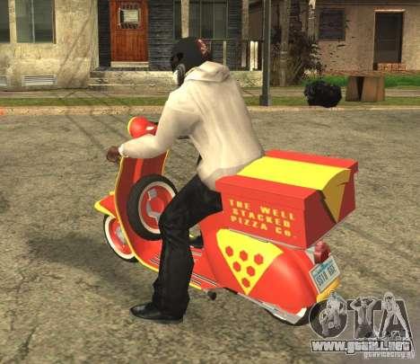 Vespa N-50 Pizzaboy para GTA San Andreas left