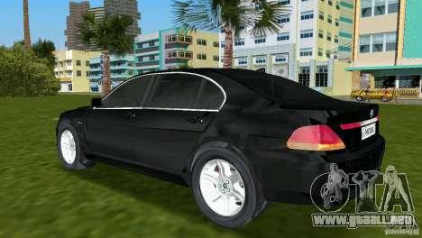 BMW 7-Series 2002 para GTA Vice City vista lateral izquierdo