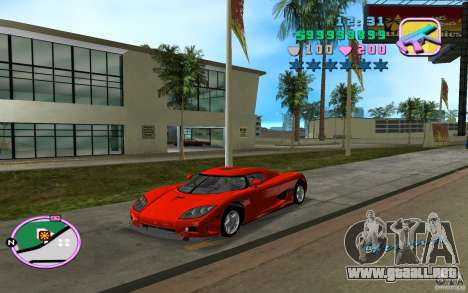 Koenigsegg CCX para GTA Vice City left