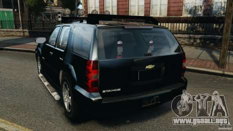 Chevrolet Tahoe LCPD SWAT para GTA 4 Vista posterior izquierda
