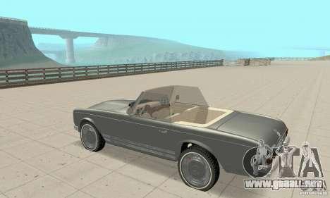 Mercedes-Benz 280SL (Matt) para GTA San Andreas vista hacia atrás