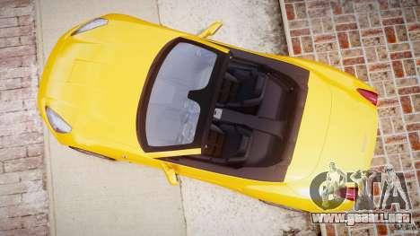 Ferrari California v1.0 para GTA 4 vista hacia atrás