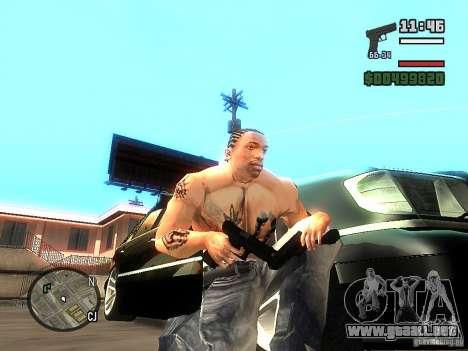 Carbon Glock 17 para GTA San Andreas segunda pantalla