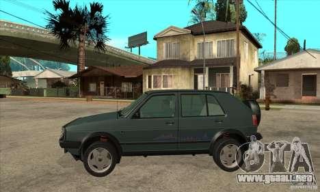 Volkswagen Golf Country MkII Syncro 4x4 1991 para GTA San Andreas left