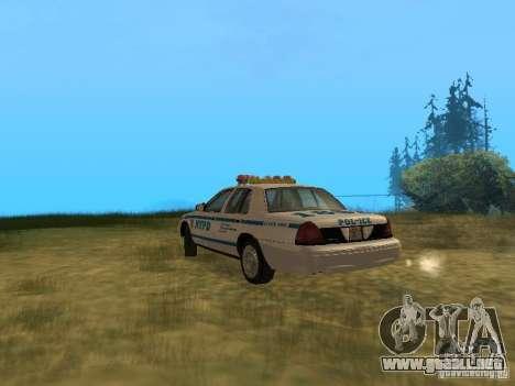 Ford Crown Victoria NYPD Police para la visión correcta GTA San Andreas