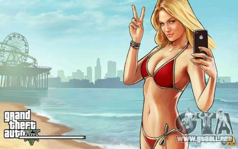 Pantallas de inicio al estilo de GTA 5 para GTA San Andreas segunda pantalla