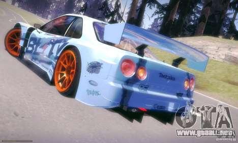 Nissan Skyline Touring R34 Blitz para GTA San Andreas left