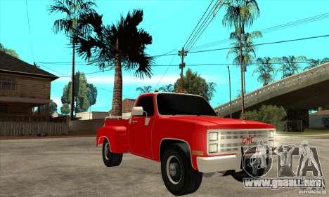 GMC 454 PICKUP para GTA San Andreas vista hacia atrás