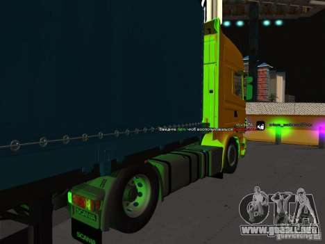 Scania R620 para GTA San Andreas left