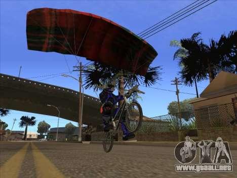 Paracaídas para bajka para GTA San Andreas tercera pantalla