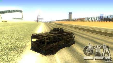 Frontline - MilBus para GTA San Andreas vista posterior izquierda