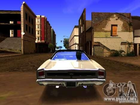Plymouth GTX 1969 para visión interna GTA San Andreas