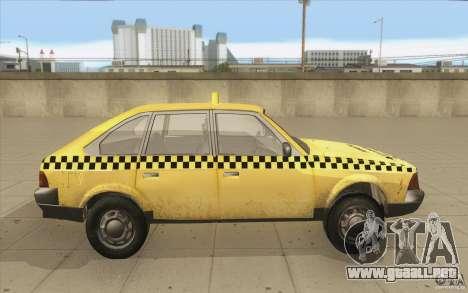 AZLK Moskvich 2141 Taxi v2 para visión interna GTA San Andreas