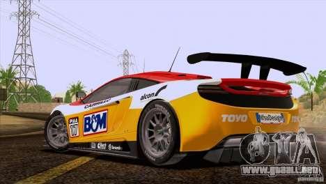 McLaren MP4-12C Speedhunters Edition para GTA San Andreas interior