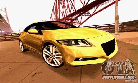 Honda CR-Z 2010 V2.0 para la vista superior GTA San Andreas