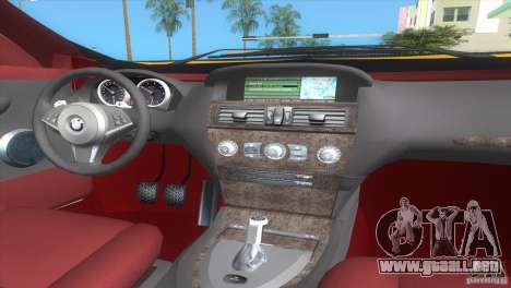 BMW 645Ci para GTA Vice City vista lateral izquierdo