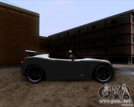 Saturn Sky Roadster para visión interna GTA San Andreas