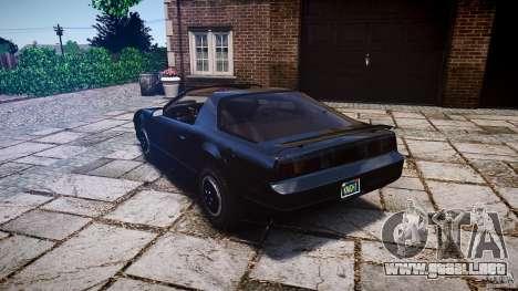 KITT Knight Rider para GTA 4 Vista posterior izquierda
