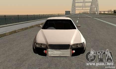Toyoyta Chaser jzx100 para GTA San Andreas vista posterior izquierda