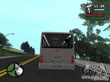 Busscar Urbanus SS Volvo B10M para la visión correcta GTA San Andreas