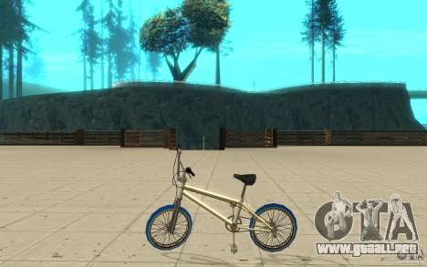 Zeros BMX BLUE tires para GTA San Andreas left