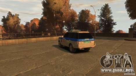 Land Rover Range Rover Police para GTA 4 left