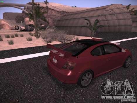 Scion tC para GTA San Andreas left