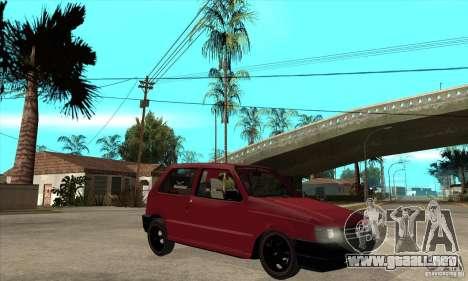 Fiat Uno Fire para GTA San Andreas vista hacia atrás