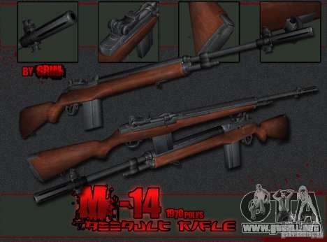 M14 para GTA San Andreas segunda pantalla