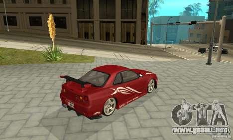 Nissan Skyline R-34 GTR para GTA San Andreas