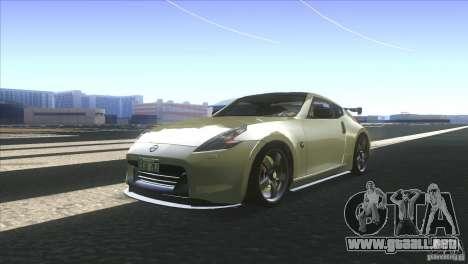 Nissan 370Z Drift 2009 V1.0 para GTA San Andreas vista posterior izquierda