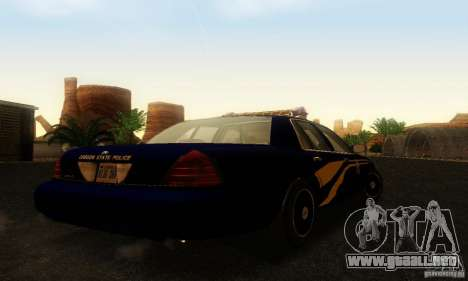 Ford Crown Victoria Orgeon Police para GTA San Andreas left