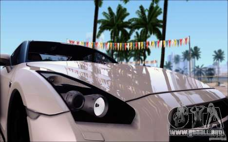 Nissan GTR 2011 egoísta (versión con suciedad) para la vista superior GTA San Andreas
