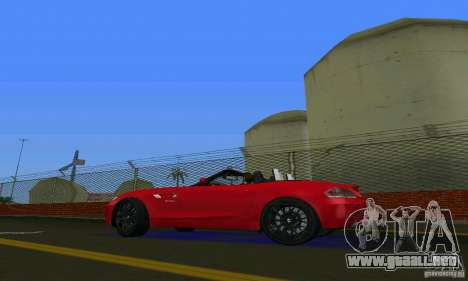 BMW Z4 V10 2011 para GTA Vice City visión correcta