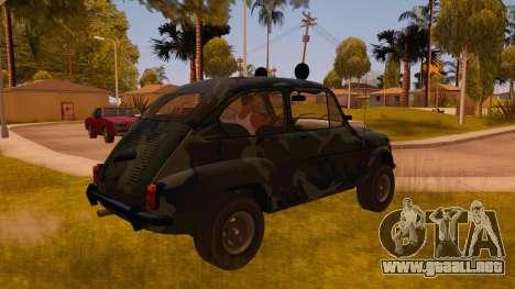 Zastava 750 4x4 Camo para la visión correcta GTA San Andreas