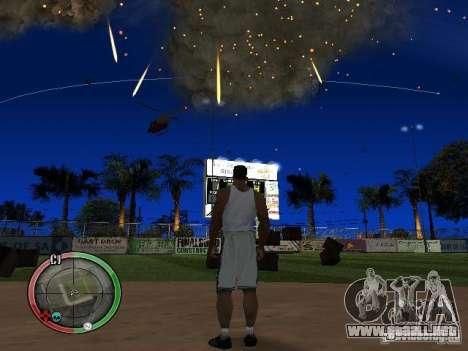 RAIN OF BOXES para GTA San Andreas sucesivamente de pantalla
